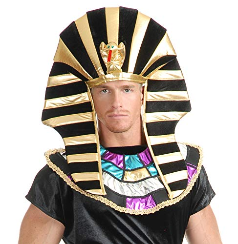 Charades Unisex-Adult's Egyptian Headpiece, Black/Gold, One Size -
