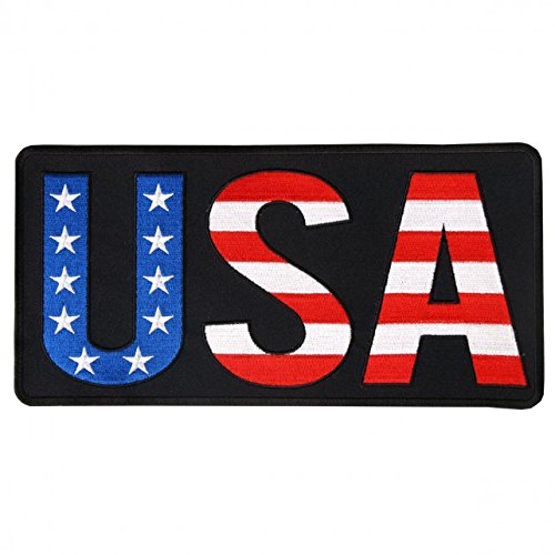 (Hot Leathers, 10 USA, High Thread EMBROIDERED Iron-On / Saw-On Rayon PATCH - 10