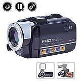 Camcorder Digital Camera Full HD Video Camera 1080p 24.0MP Night Vision Vlogging Camera Support Microphone LED Light Input