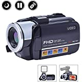 Camcorder Digital Camera Full HD Video Camera 1080p 24.0MP Night Vision Vlogging Camera Support Microphone LED Light Input