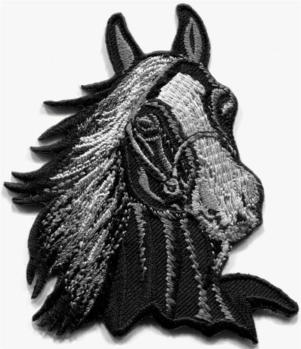 Horse Colt Bronco Filly Mustang Pony Stallion Steed Applique Iron-on Patch S1011 Handmade Fast Shipping