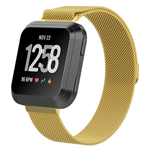 Band Big Vst (Borave Stainless Steel Replacement Bands for Fitbit Versa bands,Replacement Bands Accessories for Fitbit Versa Watch, versa bands for women and men,Large)