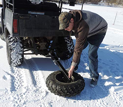 UTV Receiver Hitch Spare Tire Mount Fold Down Hornet Outdoors Made in USA Steel Powder Coated U-4047S