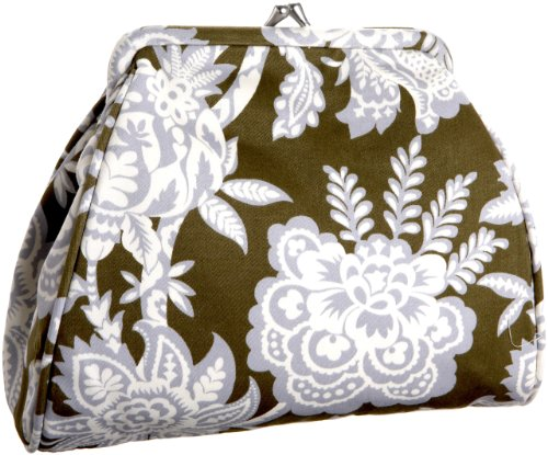 2 Amy Butler Fabric - Amy Butler Nora Clutch,Tropicali Tea Leaf,one size