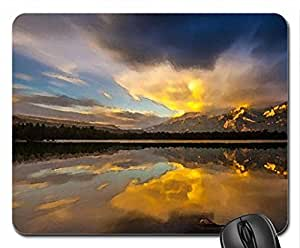 Beautiful landscape Mouse Pad, Mousepad (Sunsets Mouse Pad, Watercolor style)