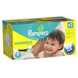 Pampers Swaddlers Diapers Size 5, 124 Count Image