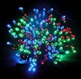 ALEKO Solar Powered Christmas Lights String Light 100 LED Multicolor