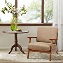 Amazon Com Axis Exposed Wood Accent Chair Mushroom See