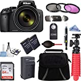 Nikon COOLPIX P900 16MP 83x Super Zoom 4k Wi-Fi GPS Digital Camera + 64GB Memory & Accessory Bundle Kit