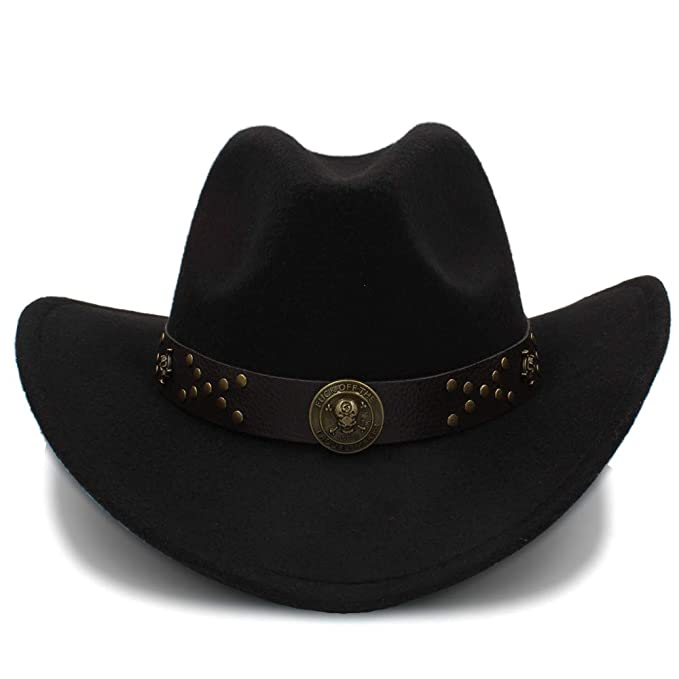 7568b080be3 GeorgeB- Western Cowboy Hats Travel Caps for Women Men