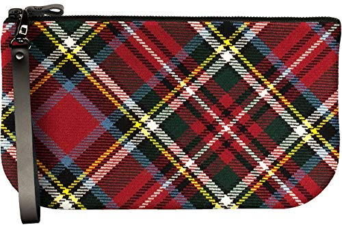 Small Leather Clutch Bag Bonnie Prince Charlie Tartan Fits iPad Mini