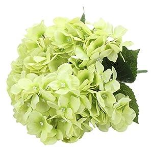 Hosaire Artificial Flowers Single Stem 6 Heads Silk Flowers Arrangement Bouquet Home Room Office Centerpiece Party Wedding Decor 112