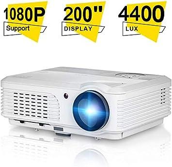4200 Lúmenes LCD Casa Teatro Proyector, Apoyo Full HD 1080P 200 ...