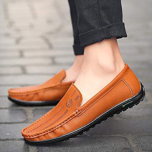 Respirantes Tout Plats Redbrown Yuann Pois Chaussures Pour Mocassins Hommes aller À wxCqFg