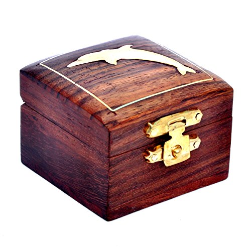 Hashcart Decorative Wooden Jewelry Box - Storage Organizer...