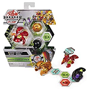 Best Epic Trends 512s7avX4UL._SS300_ Bakugan Starter Pack 3-Pack, Fused Pegatrix x Goreene Ultra, Armored Alliance Collectible Action Figures