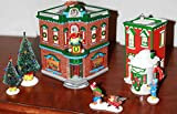 Department 56 Snow Village ''Saturday Morning Downtown'' Start a tradition Kringle's Toy Shop, Nikki's Cocoa shop 8 piece set