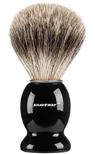 Shaveway 100% Pure Badger Shaving Brush-Engineered to deliver the Best Shave of Your Life!!! No Matter what method you use, Safety Razor, Double Edge Razor, Staight Razor or Shaving Razor,. … by Shaveway
