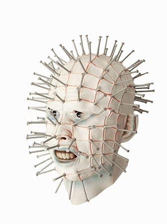 zj Horror Spoof Rompiendo Látex Máscara de Uñas Película Extraña Máscara Fiesta de Halloween Peluca,