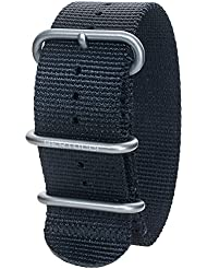 Bertucci DX3 B-114 Black 26mm Nylon Watch Band