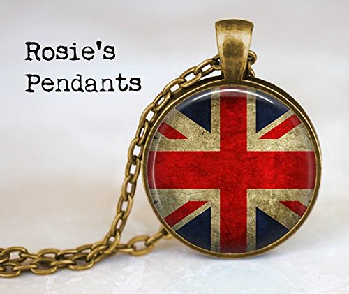 stap Union Jack British Flag - Pendant Necklace - Union Jack Jewellery - UK Flag Necklace - Great Britain Flag Pendant - Union Jack -