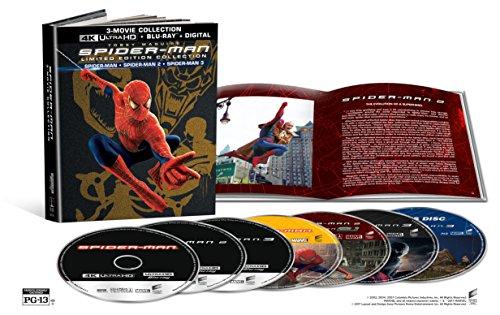 4K Blu-ray : Spider-Man (2002) / Spider-Man 2 (2004) / Spider-Man 3 (2007) (Limited Edition, With Blu-Ray, Boxed Set, Ultraviolet Digital Copy, 4K Mastering) - Seller: turbomax6 [+Peso($26.00 c/100gr)] (MMV)