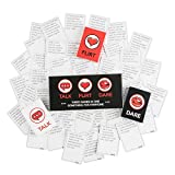 Fun and Sexy Adult Game for Couples: Date Night Box Set with Conversation Starters, Sex Games and Naughty Dares - Choose from Talk, Flirt or Dare Cards for 3 Games in 1 - Includes 150 Gaming Cards