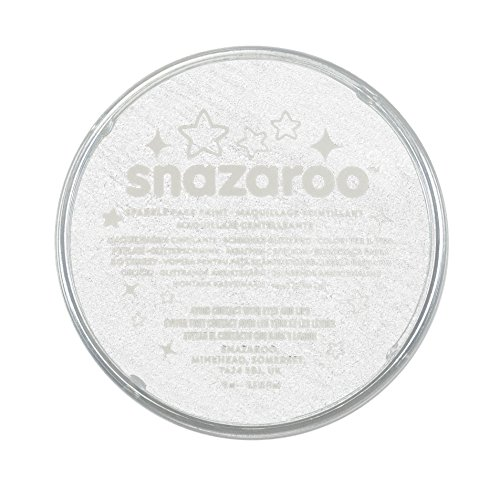 Snazaroo Sparkle Face Paint, 18ml, Sparkle White]()