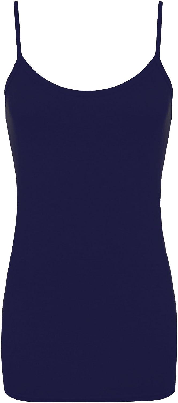 Donna Re Tech UK Canotta Lunga con Spalline Tessuto Liscio Ideale Anche Come Mini Abito