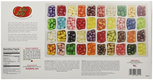 Review Jelly Belly Jelly Beans, 40 Flavors, 17-Ounce Gift Box
