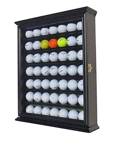 49 Golf Ball Display Case Cabinet Holder Rack w/ UV Protection, GB49-BL (Golf Ball Display Case)