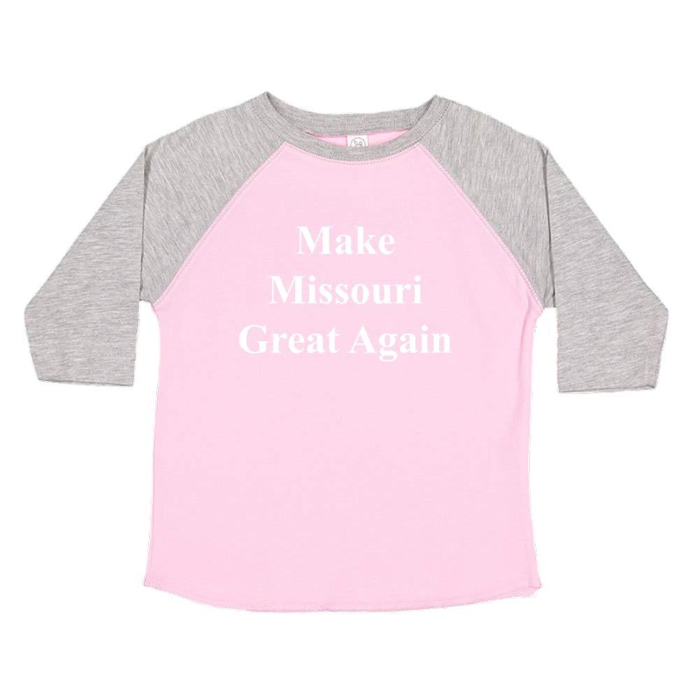 Mashed Clothing Make Missouri Great Again MAGA Trump Republican Toddler//Kids Raglan T-Shirt