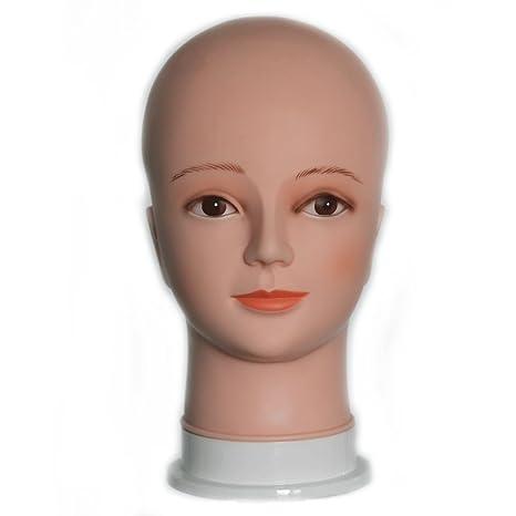 Maniquí Cabeza peluca Modelo de Calvo maniquí muñeca EGT01