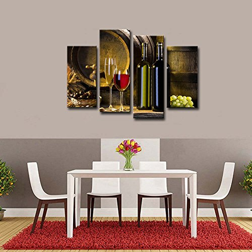 Large Modern Wall Art Canvas Framed Red Wine Grape Photo Print Dining Room  Decor Limited In Stock. Buy It Now!