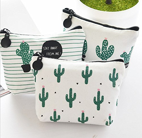 - Skyseen 3Pcs Girls Cactus Pattern Sanitary Holder Napkin Tampon Pouch Key Bags Coin Purse