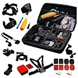 Navitech 30-in-1 Action Camera Accessories Combo Kit with EVA Case Compatible with The Samsung HMX-QF30BP/EDCSENDOW 4K HD | SENSORIE WiFi Action Cam