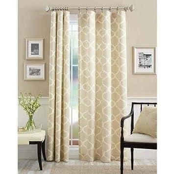 Captivating Mainstays Canvas Iron Work Curtain Single Panel, 50u0026quot;x84u0026quot;, Neutral