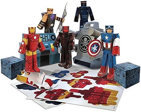 Avengers Marvel Assemble Papercraft Hydra Battle Heroes Pack ...