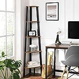 VASAGLE Industrial Bookcase, 5-Tier Corner