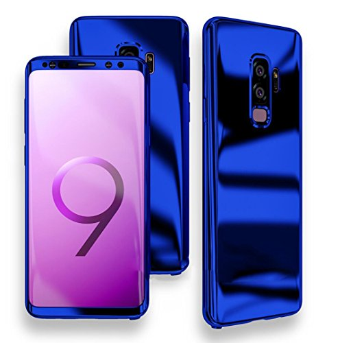 Case Mirror Screen Protector - Losin Galaxy S9 Case Ultra Slim Luxury Electroplate 360 Degree Full Body Protection Mirror + Soft Screen Protector Film Hard PC 360 Degree Coverage Case
