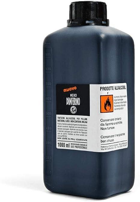 Nero DInferno - Alto Tintura Leather Tinte / Tinta - 1000ml - Suministrado de graff-city - Negro, 1000ml