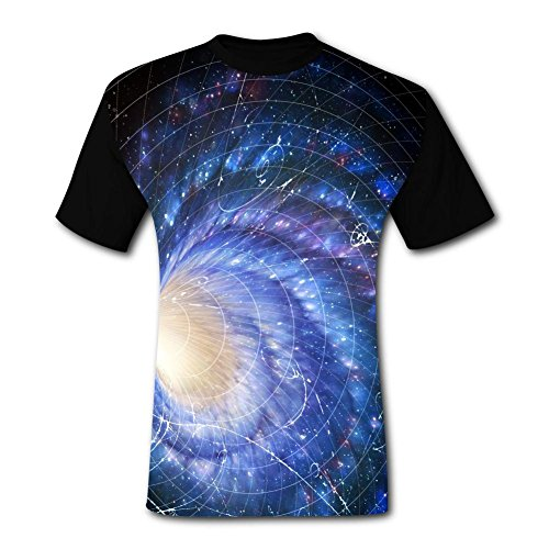 Elcacf Mens Swirl Different Dimension Space Adult T-Shirt Short Sleeve Tees L