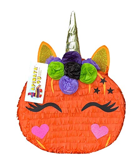 APINATA4U Pumpkin Unicorn Pinata Fall Theme Pinata Halloween Party Favor