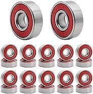 HOSTK Skateboard Bearing, 608 ABEC-9 High Speed Wearproof Skating Steel Wheel Roller, Precision Inline Skate B