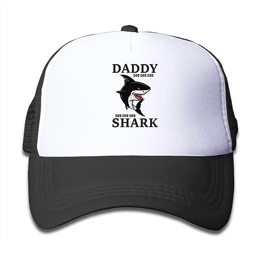 Daddy Shark Doo Doo Doo Children Trucker Caps Hat Black