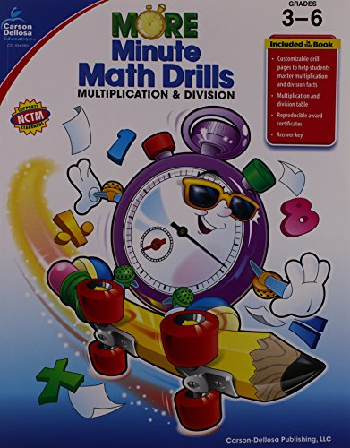 More Minute Math Drills: Multiplication and Division, Grades -