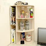 LQQGXL Storage and organization Student desk bookcase creative shelter children's desk simple bookshelf office shelves