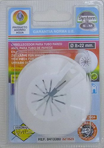 S&m EMBELLECEDOR TUBO CALEFACCION S& M SIMPLE ABS BLANCO 8-22MM 321825 ...