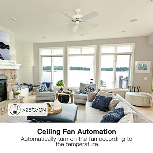 Treatlife Smart Ceiling Fan Control 4 Speed Fan Switch For Ceiling Fan Neutral Wire Required Smart Home Devices That Works With Alexa And Google Home Remote Control Schedule No Hub Required Pricepulse