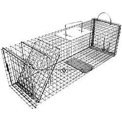 Tomahawk Model 606.3 Extra Long Rigid Trap with Easy Release Door Cat, Rabbit Size 29x9x9